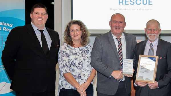 IMRF People's Choice Winners Win Gold Award for Operational Activity in New Zealand Search and Rescue Awards