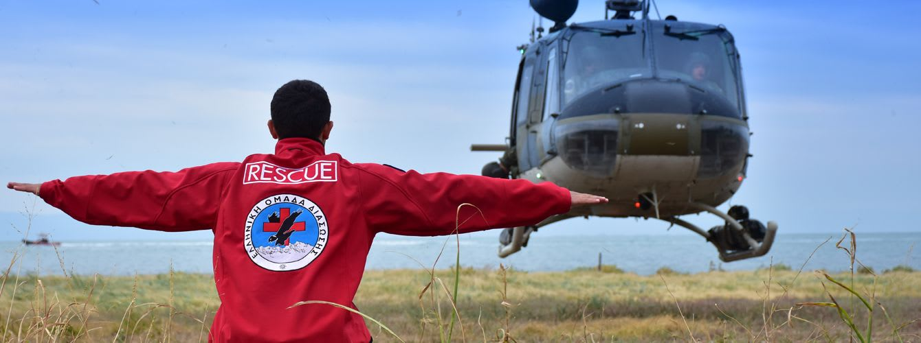 Hellenic Rescue Team's Aeronautical Search and Rescue Training in Cooperation with the Hellenic Air Force
