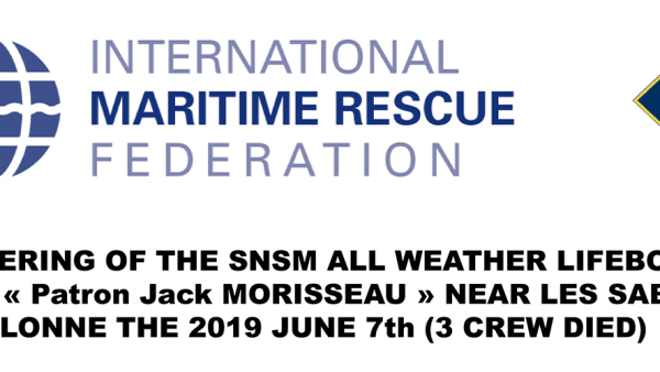 FOUNDERING OF THE SNSM ALL WEATHER LIFEBOAT SNS 061 -