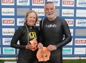 Two IMRF supporters are swimming The Cross Continental Swim